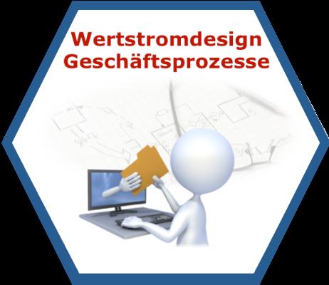 Wertstromdesign für Geschäftsprozesse Lean Management Seminar/Training/Workshop Icon